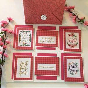 Handcrafted Notecard Set of 6 with Gift Envelope
